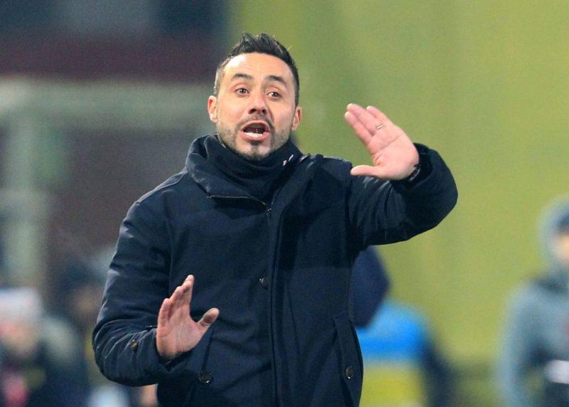"""Benevento, De Zerbi: """"Sagna con la Roma? Ho deciso! Out Cataldi, dubbio Djimsiti """""""