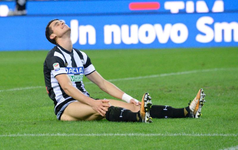 Udinese, infortunio muscolare per Lasagna: costretto a uscire, si teme la ricaduta