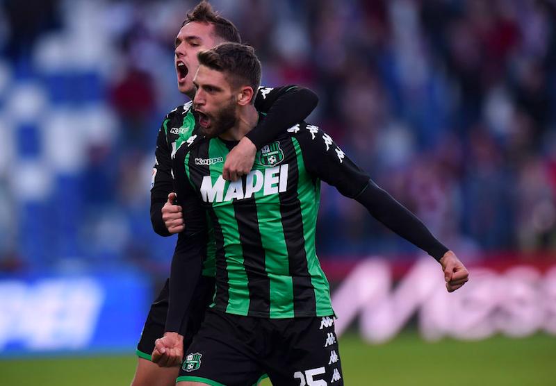 Sassuolo, emergenza verso il Milan: tre assenze certe, preoccupano Berardi e Goldaniga
