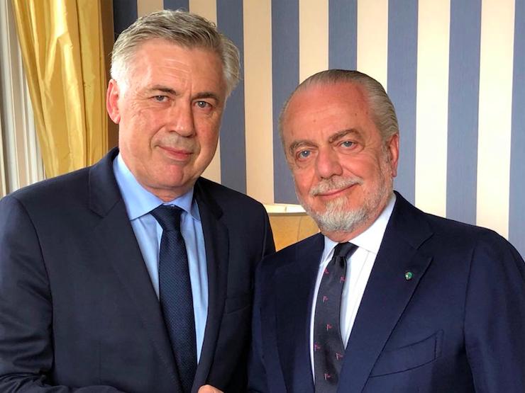 """""""Un top player 31enne può arrivare al Napoli: lo vuole Ancelotti"""". La rivelazione di De Laurentiis"""
