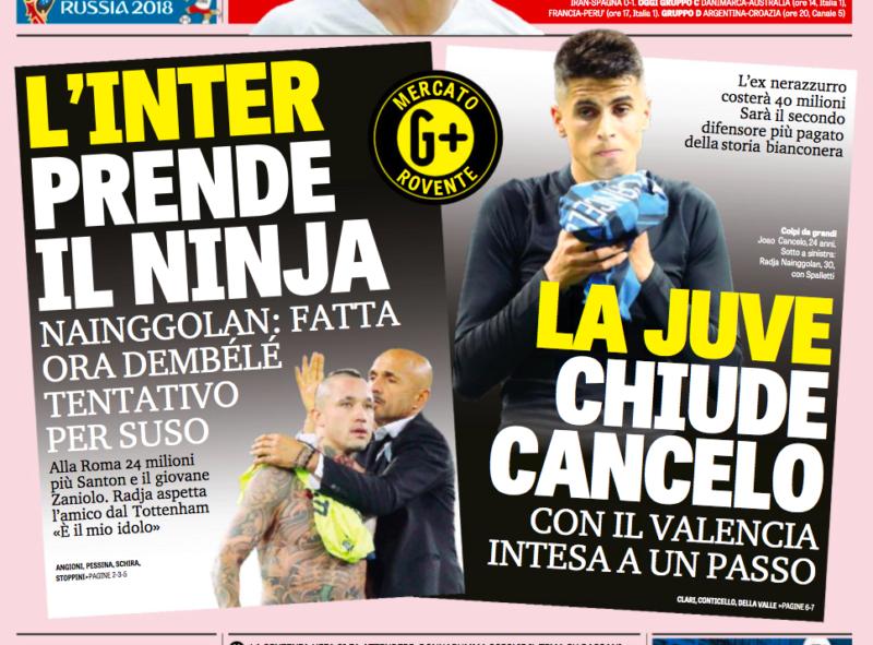 RASSEGNA – Inter e Juve scatenate: che colpi! City su Pjanic, il Parma rischia la A