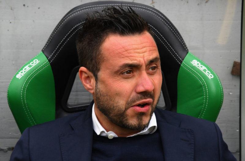 """De Zerbi: """"Vi dico due titolari! Lirola affaticato, Rogerio a rischio, Di Francesco ha la pubalgia"""""""