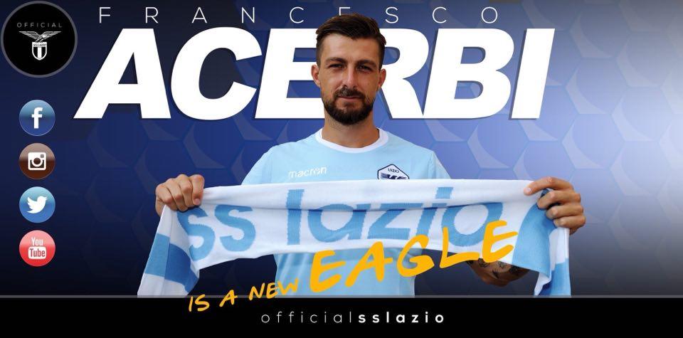Ufficiale: Acerbi è un nuovo difensore della Lazio, firmato un quinquennale