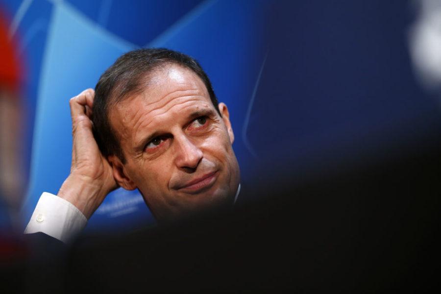 """Allegri: """"Nuovo infortunio, stop per Bentancur! Pronti diversi cambi: Cancelo e Cuadrado…"""""""