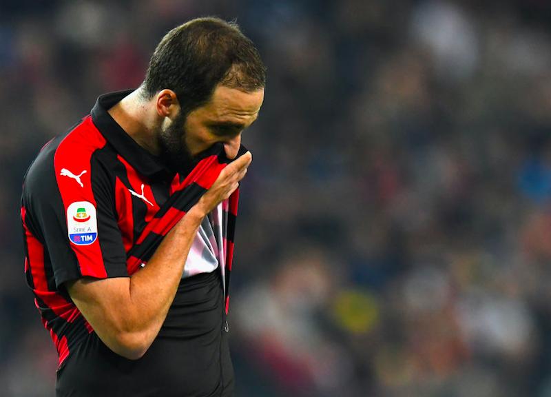 """Infortunio Higuain, Gattuso: """"Aveva fatto un intervento alla schiena: ha sentito una fitta"""""""