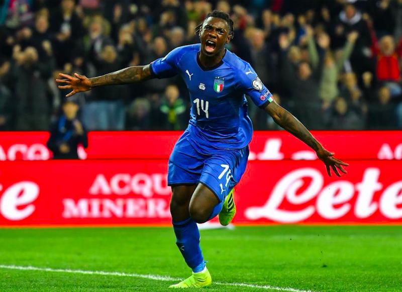 Italia, Moise Kean segna ed entra così nella storia della Nazionale