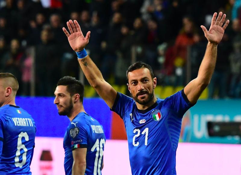 Italia, la formazione ufficiale contro la Bosnia: Quagliarella c'è, sorpresa Mancini