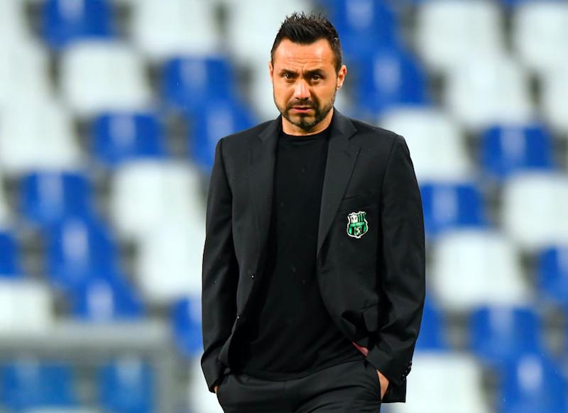 """De Zerbi: """"Berardi lo terrei qui, ha fatto pochi gol: l'ho attaccato più volte perché…"""""""