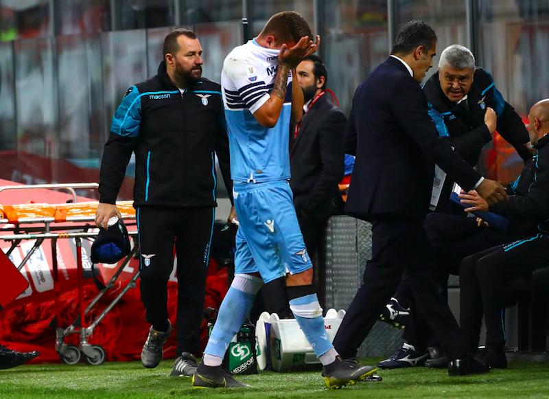"""Milinkovic esce senza stampelle: """"Ho una doppia distorsione ma sto bene"""""""