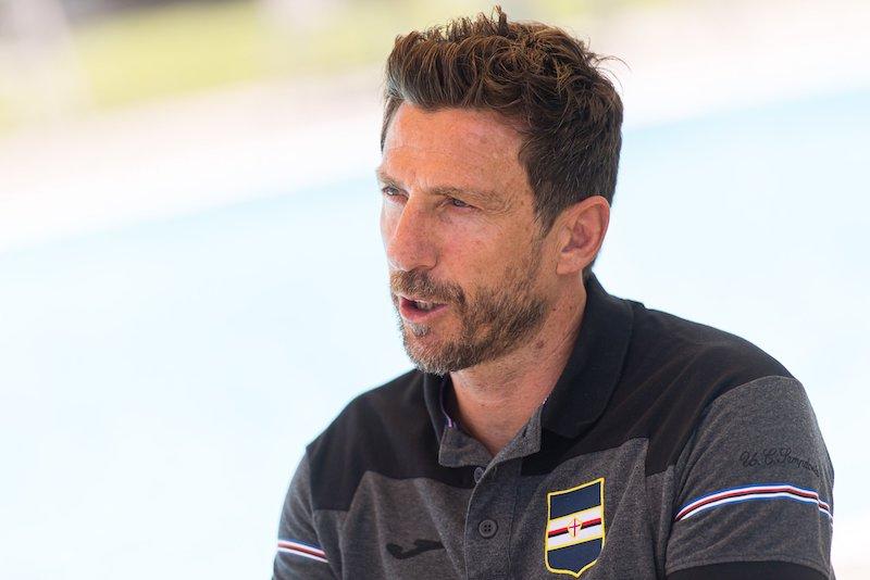 """Di Francesco: """"Gabbiadini da titolare la vedo difficile. Maroni? Ci vuole tempo"""""""
