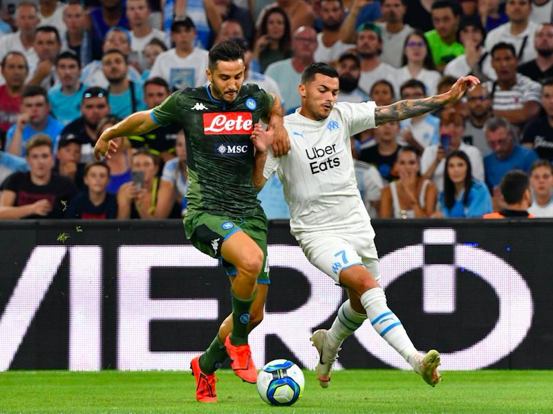 Il Napoli vince 1-0 a Marsiglia: segna Mertens, muro Manolas, +1 Callejon. Brilla Elmas