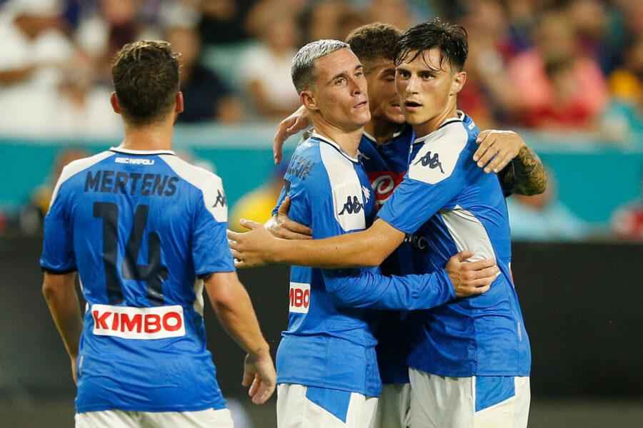 Il Napoli perde col Barça: che Callejon! Fabian fa il trequartista, male Milik, ok Elmas