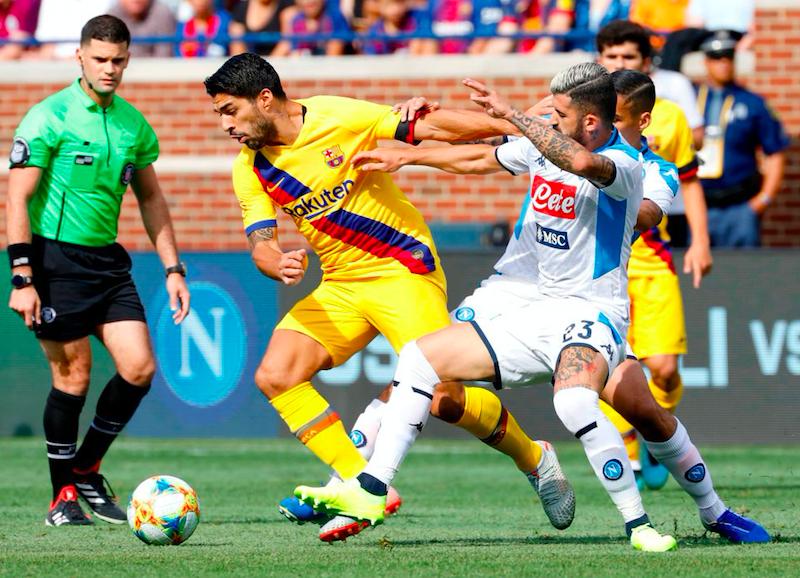 Il Napoli crolla contro il Barcellona, è poker! Tutti i bocciati, da Hysaj a Insigne