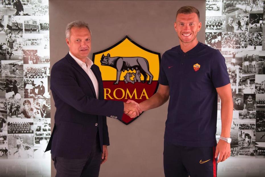 """UFFICIALE – Clamoroso Dzeko! Ha rinnovato con la Roma, niente Inter: """"Qui è casa mia"""""""