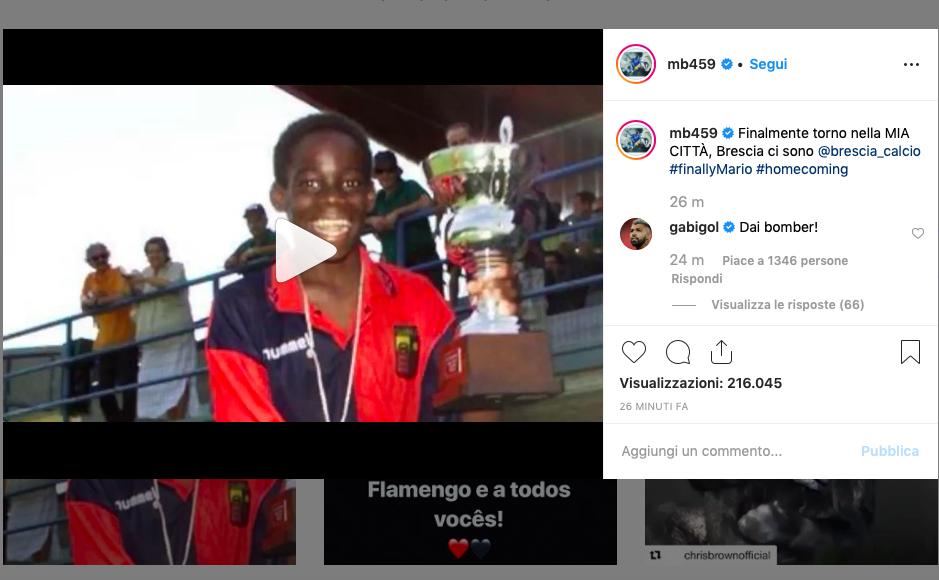 """FOTO – Balotelli già non vede l'ora: """"Torno nella mia città! Brescia, ci sono"""""""