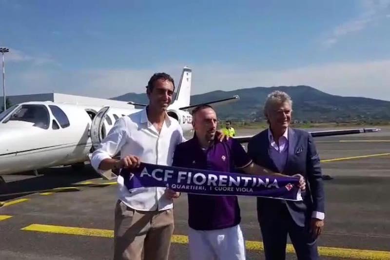 """Ribery arrivato a Firenze: """"Amo la città, ci divertiamo! Toni mi ha detto…"""""""