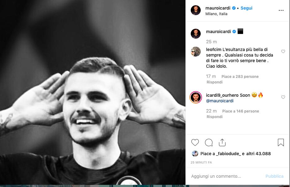 FOTO – Icardi e i nuovi post sui social: tre scatti in bianconero… con l'Inter