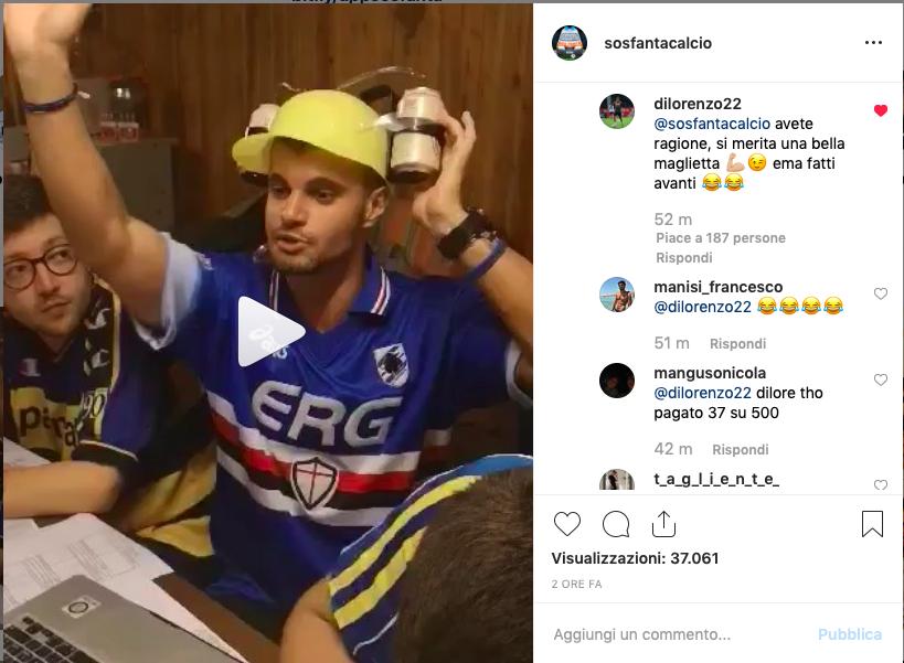"""VIDEO – Spende una mega cifra per Di Lorenzo… e il terzino risponde: """"Ti do un premio!"""""""
