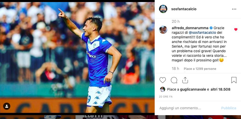 """FOTO – Donnarumma a SOS Fanta: """"Grazie ai fantallenatori! Al prossimo gol vi racconto…"""""""