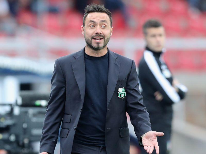 """De Zerbi: """"Caputo rientra, Berardi riposa in settimana. Marlon in bilico, Toljan e i gli assenti…"""""""