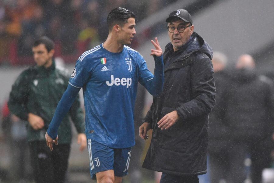 """Gazzetta: """"Sarri e Ronaldo non si sono ancora chiariti, filtra un'altra versione"""""""