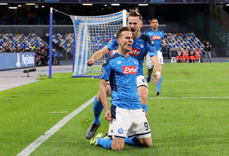 Napoli, rientro in campo da urlo per Milik dopo oltre un mese: tripletta da record