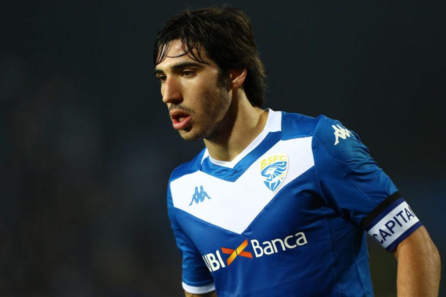 Brescia, Tonali non si allena in gruppo: è in dubbio per la Juventus