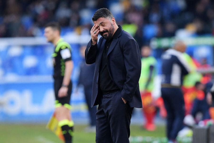 """Gattuso: """"Koulibaly fa fatica ma così non si può. Milik, perché il giallo?"""""""