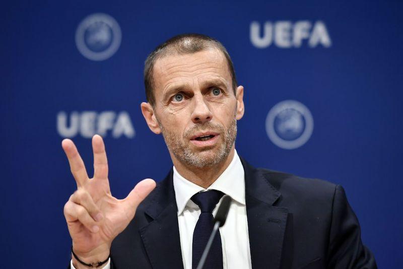 """Ceferin: """"La Champions sarà finita. L'80% dei campionati terminerà, i club francesi…"""""""