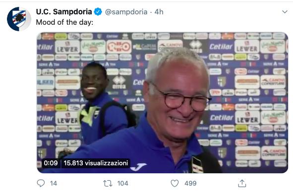 🎥 VIDEO – Ranieri, che succede? Scherzo di Colley in diretta e così Claudio scoppia a ridere