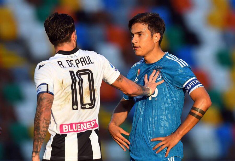 """De Paul: """"La Champions mi piace, non so dove giocherò. Dybala è mio fratello"""""""