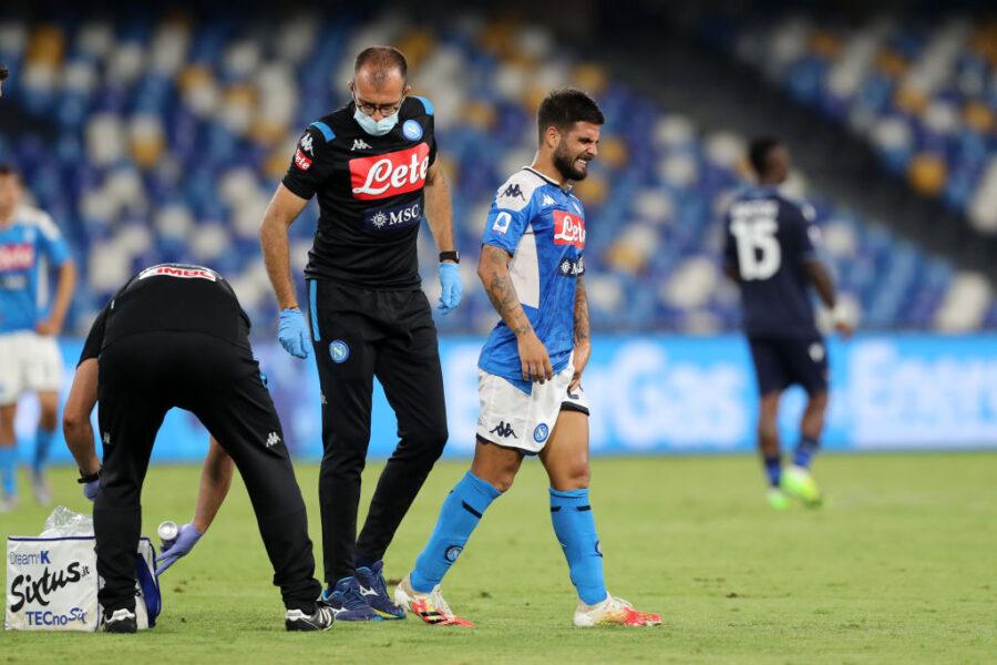 Napoli, infortunio per Insigne: risentimento muscolare alla coscia