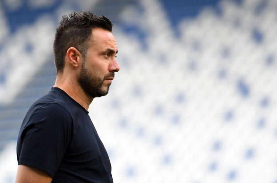 "De Zerbi: ""Le decisioni per Caputo, Berardi, Locatelli, Ferrari e Muldur con l'Inter"""