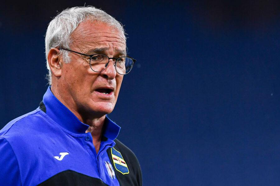 """Ranieri: """"Quagliarella coi crampi, è dispiaciuto. Candreva l'ho tolto per affaticamento"""""""