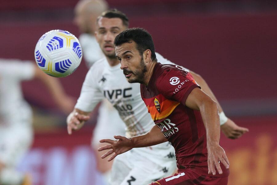 Roma, Pedro ancora a parte: cosa filtra sul recupero in vista del derby