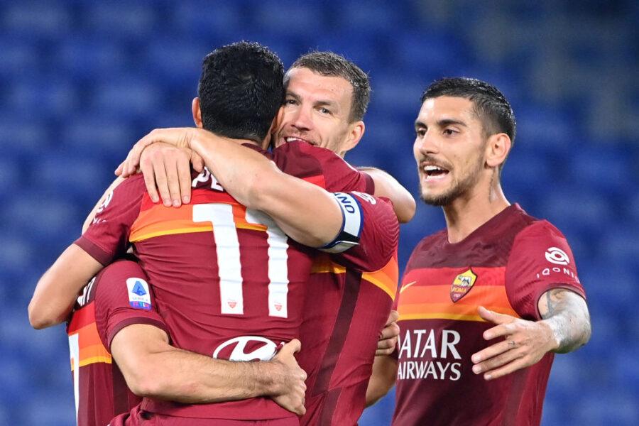 Roma, dal terzetto di difesa a Pedro e Dzeko: la formazione anti-Ajax
