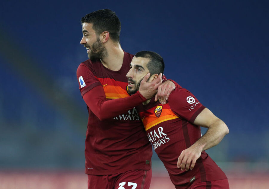 Roma, le prove anti-United: senza Mancini, da Smalling a Spinazzola e Mkhitaryan