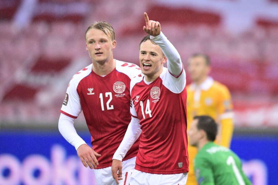 Sampdoria, Damsgaard show in nazionale: doppietta! E gli assist sono di Skov Olsen