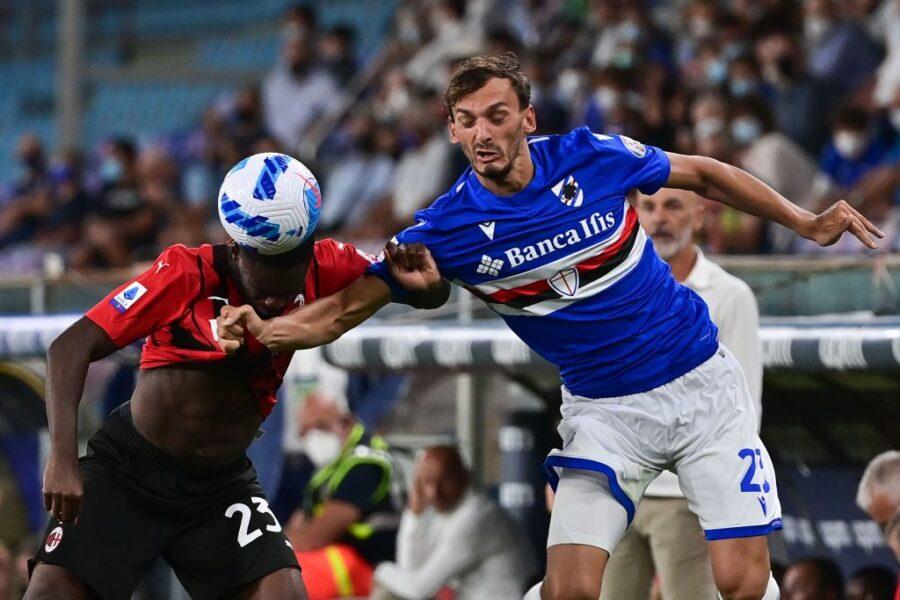 Sampdoria, ansia per Gabbiadini: brutto stop contro il Milan, c'è l'infortunio