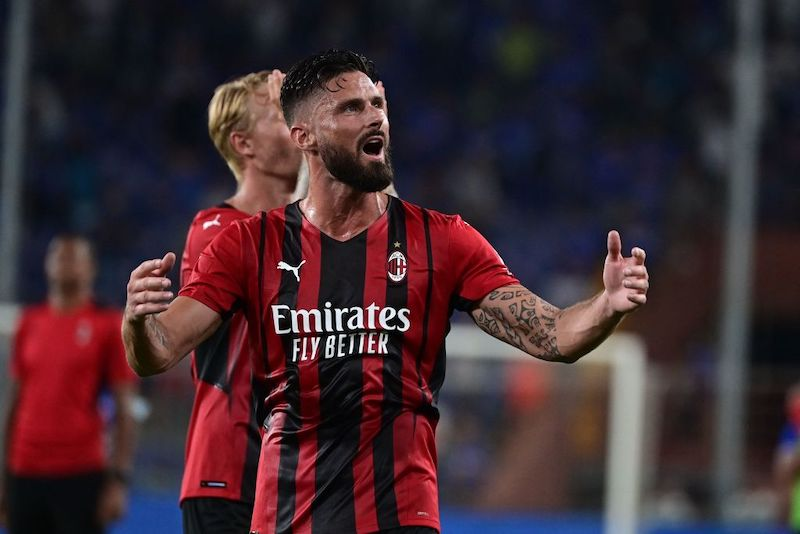 Milan, Giroud torna ad allenarsi con il gruppo: la gestione verso lo Spezia