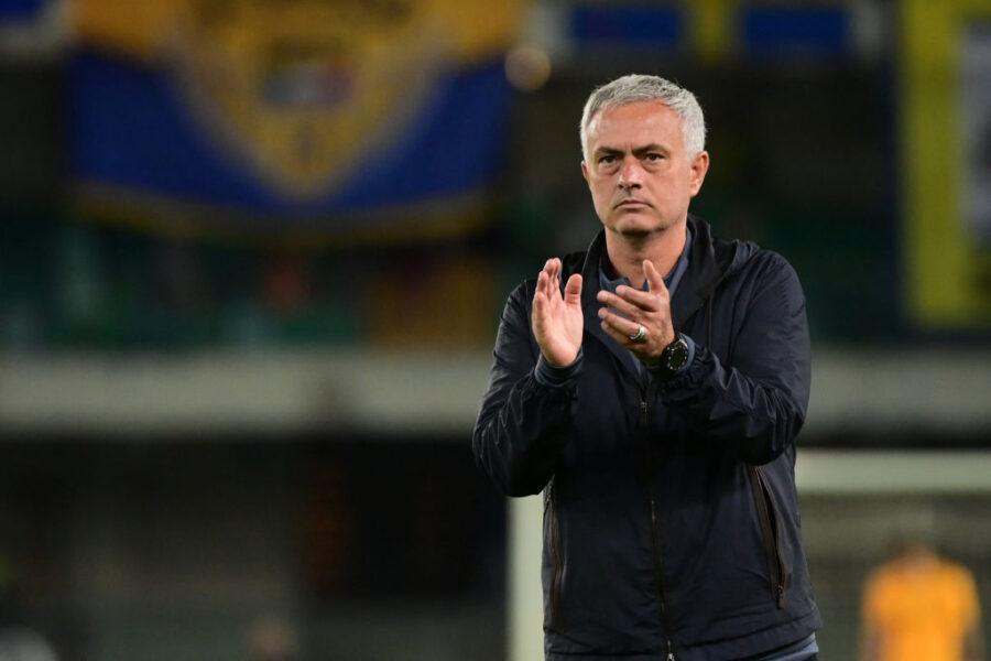 """Mourinho: """"Zaniolo doveva aiutare di più, Veretout limitato per un motivo. La sconfitta…"""""""